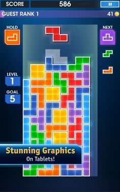 (*** http://BubbleCraze.org - If you like bubble games for Android/iPhone, you'll LOVE this one. ***)  Tetris