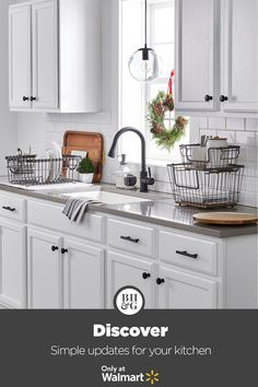 Prep your kitchen for the holidays with organization staples from Better Homes & Gardens at Walmart. #holiday #christmas #kitchen #organization #storage #kitchenideas #holidaykitchendecor