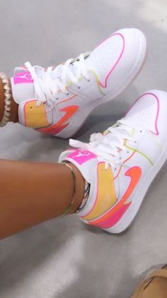 Neon Shoes, Dr Shoes, Cute Nike Shoes, Swag Shoes, Cute Nikes, Cute Sneakers, Nike Air Shoes, Hype Shoes, Bright Shoes