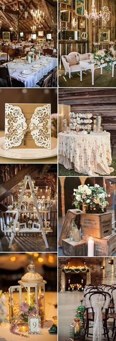 rustic vintage barn wedding ideas with matching invitations