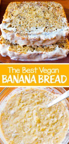 Banana Bread Recipe Video, Make Banana Bread, Vegan Banana Bread, Chocolate Banana Bread, Banana Bread Recipes, Vegan Breakfast Recipes, Delicious Vegan Recipes, Healthy Dessert Recipes, Healthy Treats