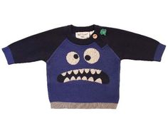 Green Cotton - Qi, jersey de punto ecológico con monstruo | fun organic knit sweater