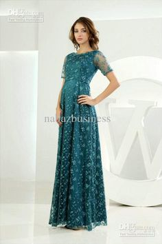 2013 Actual Image A Line Short Sleeves Hunter Green Lace Evenin Dresses Evening Dress Formal Gown from Nabazbusiness,$84.09 | DHgate.com