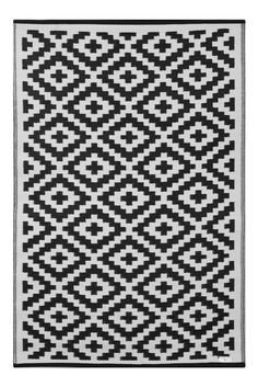 Nirvana Lightweight Indoor/ Outdoor Reversible Plastic Rug - Taupe / White- ft x Black Rug, White Rug, White Area Rug, Black And White, Moroccan Design, Moroccan Style, Moroccan Decor, Patio Rugs, Indoor Outdoor Area Rugs