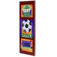 StyleCraft Home Collection WI32158DS Soccer Hand Embellished Art on Canvas