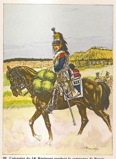 French; 14th Cuirassier Regt, Cuirassier, early in the 1812 Russian Campaign