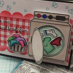 Here is a video for my interactive card using the @lawnfawn loads of fun stamp…