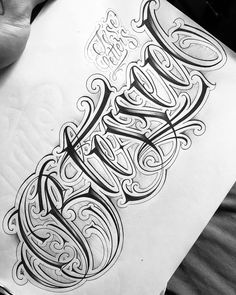 Tattoo Chart, Chicanas Tattoo, Alien Tattoo, Up Tattoos, Tattoo Fonts, Body Art Tattoos, Tattoos For Guys, Tattoo Lettering Design, Chicano Lettering