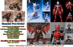 Pre-Order Bandai:  - SIC Kiwami Trychaser 2000  - SHF Kamen Rider Wizard Flame  - UltraAct Ultraman Nexus  - SHM Destroyer  - D-Arts MewTwo