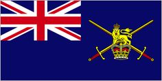 Image of Army Ensign (worn by vessels commanded by commissioned officer)