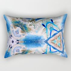 Blue triangle with the mark Rectangular Pillow