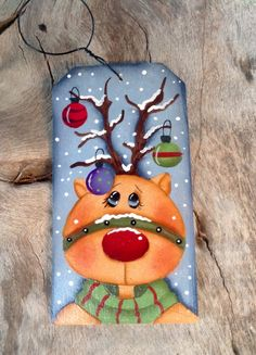 NEW 2016 - Merry Merry Reindeer Ornament by CountryCharmers on Etsy https://www.etsy.com/listing/280444618/new-2016-merry-merry-reindeer-ornament