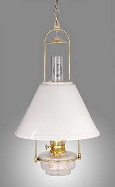 Aladdin® Brand Deluxe Glass Hanging Lamp | Antique Lamp Supply