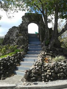 Old entrance to a mill at Nisbet Plantation, Nevis West Indies