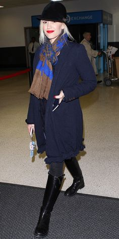 Jet-Set in Style: 22 Celebrity-Inspired Outfits to Wear on a Plane - Gwen Stefani from #InStyle