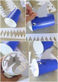DIY Shark Cups – Snack Attack