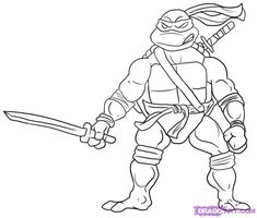 Teenage Mutant Ninja Turtle Coloring Pages