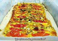 Quiches con porri, pomodorini e pistacchi - Pistachio quiches with cherry tomatoes and leek