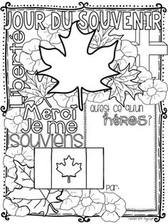 Remembrance Day Activities, Remembrance Day Art, Teaching French Immersion, Word Collage, Core French, School Study Tips, French Language Learning, Art Lessons Elementary, Classroom Inspiration