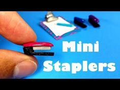 DIY Miniature Doll Staplers - Dollhouse DIY - YouTube