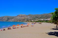 Paleohoran ranta avautuu kaupungin länsilaidalla. #Paleohora #Kreeta #Aurinkomatkalla #Aurinkomatkat