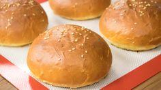 Burger Buns Recipe | Best Eggless Hamburger Buns | Super Soft Bakery Sty...