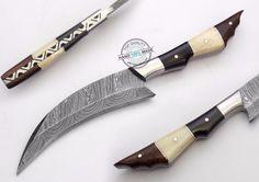 "8.50"" Custom Hand made Beautiful Damascus Steel skinning Hunting Knife (923-1) #UltimateWarrior"
