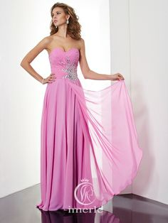 elegant long fuchsia prom dress