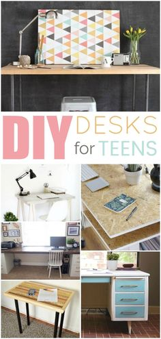Don't worry about the high prices of desks. DIY is here to save the day. Today I'm going to share some great DIY Desk Ideas For Teens that you're all going to love #backtoschool #deskorganization #woodproject #diy #craftproject #dormroom Diy Dorm Decor, Diy Home Decor Bedroom, Teen Room Decor, Dorm Decorations, Wall Decor, Diy Crafts For Teen Girls, Diy Projects For Teens, Diy For Teens, Craft Projects