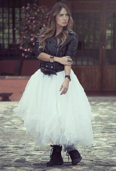 Make Many Looks Featuring Tulle Skirts.  I'd rock my peeptoe booties though instead.
