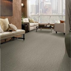 Shop STAINMASTER Active Family Unquestionable City Loft Cut and Loop Indoor Carpet at Lowes.com