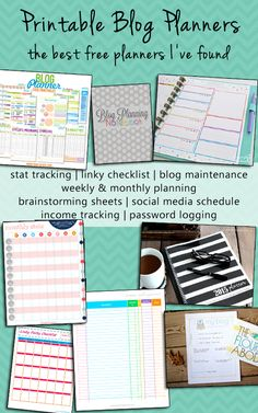 The best free printable blog planners