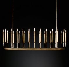 Created by renowned lighting designer Jonathan Browning, this fixture has the presence of modern sculpture. Midcentury in inspiration, delicate arms evoking organic forms culminate in Edison-style bulbs. Candle Chandelier, Linear Chandelier, Pendant Lighting, Pendant Lamp, Chandeliers, Dining Pendant, Interior Lighting, Home Lighting, Modern Lighting