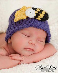 Crochet Baby Beanie BEE HAPPY by iaFlowerPower on Etsy, $25.00