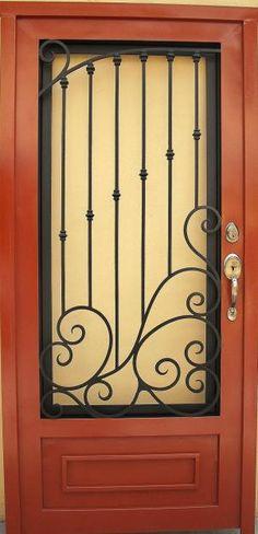 Cercos rejas protecciones de herreria para ventanas for Puertas principales de herreria elegantes