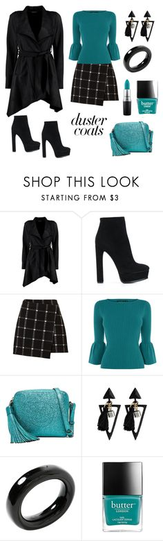 Black And Teal by siriusfunbysheila1954 on Polyvore featuring Boohoo, Casadei, Anya Hindmarch, Tiffany & Co. and MAC Cosmetics