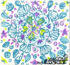 Lilly Pulitzer Preppy & Whimsical Art - Prints, Patterns, Paintings, Doodles, & Sketches - Seashell