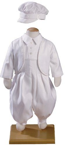 Boys Silk Shantung Christening Baptism Coverall/Jacket, « Clothing Impulse