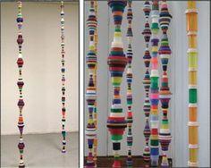 Bottle Cap Hanging Sculptures