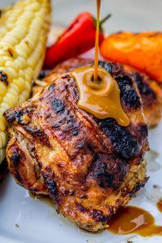 Slow Grilled Mustard Chicken