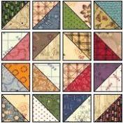 scrappy diamonds made from half square triangles