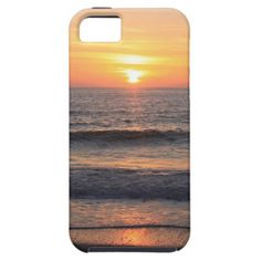 Beach Sunset over the Ocean iPhone 5 Cases
