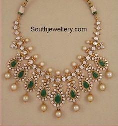 Polki Diamond Pacchi Necklace - jewelry and accessories, jewelry jewelry jewelry, online shop for jewellery *ad