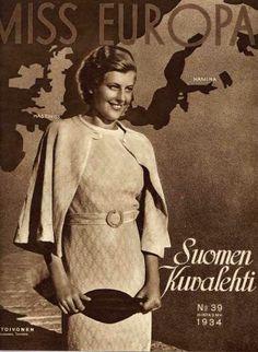 Suomalainen Missifoorumi ::  - Miss Europe 1934 SUOMI - Ester Toivonen Myös näyttelijä - also actress