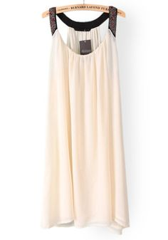 Rhinestone Beaded Chiffon Dress