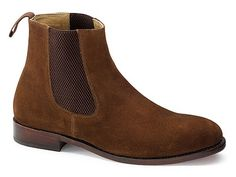 Prestige Chelsea Boots: Brown Suede in Mens Boots