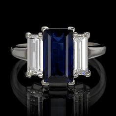 Juniker Jewelry's sapphire engagement is just fabulous!!! ~xx