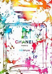 Flowers Art - Chanel Number Five Paint Splatter  by Dan Sproul