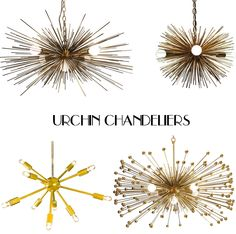 best of bklyn | fashion and lifestyle blog | southern california: Urchin Chandeliers