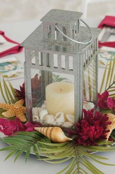 beach wedding lanterns centerpieces  | Beach Lantern